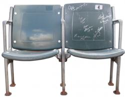 Miami Dolphins 1972 Team Signed Green Seatback Chairs