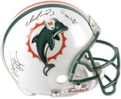 Dan Marino, Mark Duper & Mark Clayton Signed Authentic Helmet - Mounted Memories
