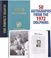 Miami Dolphins Autographed Coffee Table Book - Mounted Memories