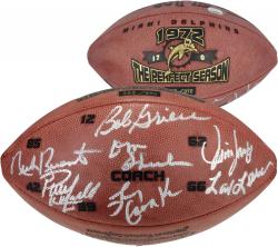 Miami Dolphins 1972 Perfect Season HOF Team Signed Football-L.E. of 372