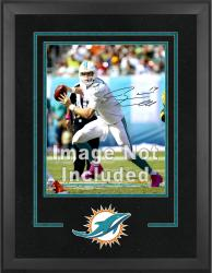 Miami Dolphins Deluxe 16'' x 20'' Vertical Photograph Frame with Team Logo - Mounted Memories
