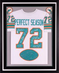1972 Dolphins Framed Autographed Jersey