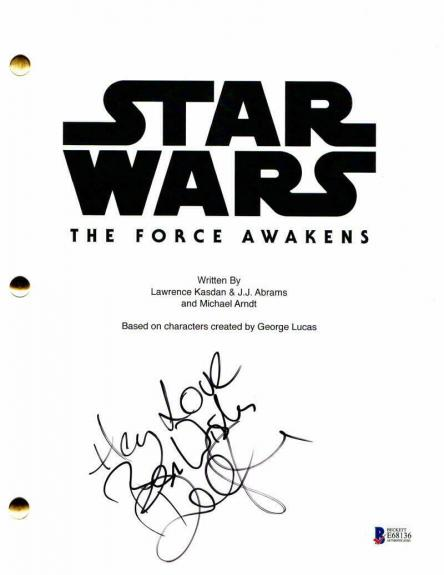 Domhnall Gleeson Signed Autograph - The Force Awakens Movie Script - Mark Hamill