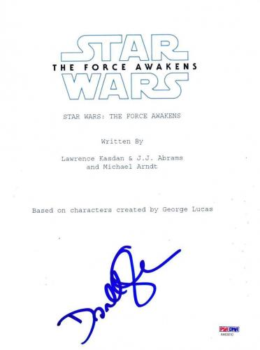 Domhnall Gleeson Signed Star Wars Force Awakens Script Authentic Autograph Coa