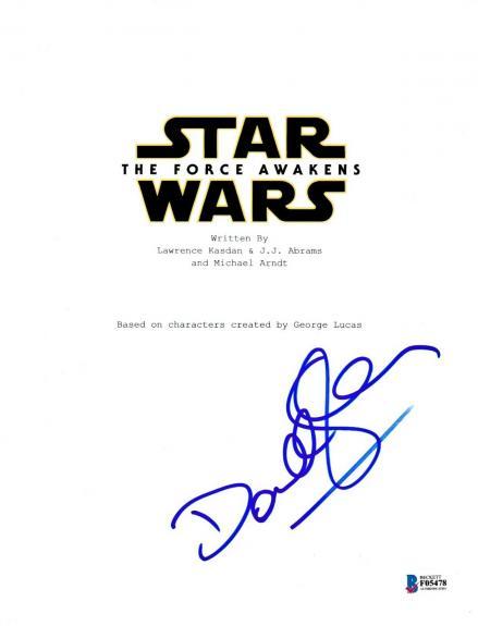Domhnall Gleeson Signed Star Wars Force Awakens Script Beckett Bas Autograph