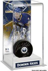 Dominik Hasek Buffalo Sabres Deluxe Tall Hockey Puck Case