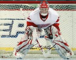 "Dominik Hasek Detroit Red Wings Autographed 8"" x 10"" Photograph with HOF 2014 Inscription"