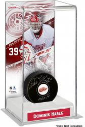 Dominik Hasek Detroit Red Wings Deluxe Tall Hockey Puck Case
