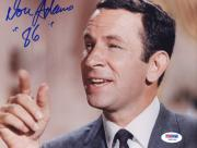 "Don Adams Autographed 8""x 10"" Get Smart Pointing Finger Photograph With ""86"" Inscription - PSA/DNA COA"