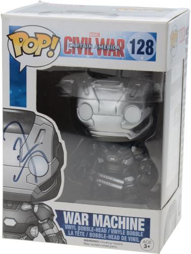 Don Cheadle Iron Man 3 Autographed #128 War Machine Funko Pop! - JSA