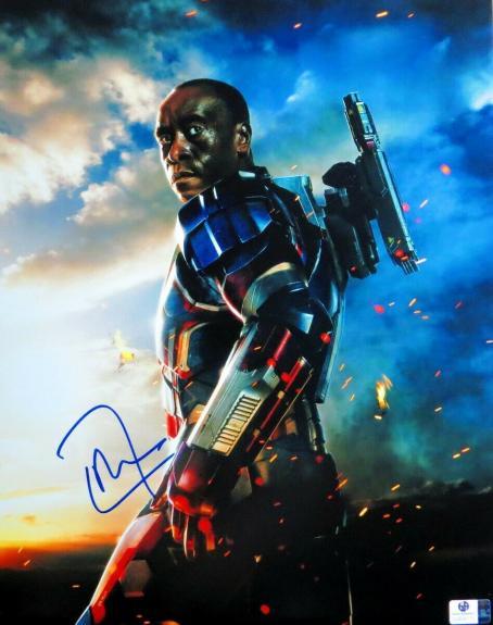 Don Cheadle Signed Autographed 11X14 Photo Iron Man 2 War Machine JSA CC88599