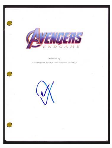 Don Cheadle Signed Autographed The AVENGERS ENDGAME Movie Script Screenplay COA