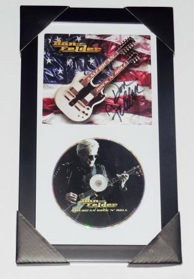 Don Felder Autographed American R&r Cd Cover (framed & Matted) - The Eagles!