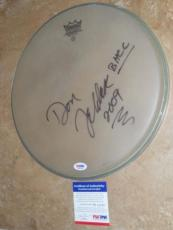 "Don Felder Eagles Signed RARE! New 12"" Coated Remo Drumhead PSA/DNA + PROOF!!"