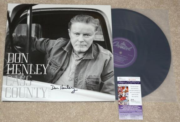 "DON HENLEY  ""CASS COUNTRY""  signed Vinyl 12"" LP Album + JSA COA R13433 Eagles"