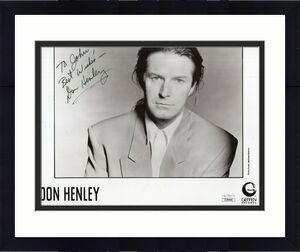 DON HENLEY HAND SIGNED 8x10 PHOTO     THE EAGLES     TO JOHN    VERY RARE    JSA