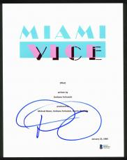 Don Johnson Signed 8.5x11 Miami Vice TV Pilot Script Cover BAS #D94523