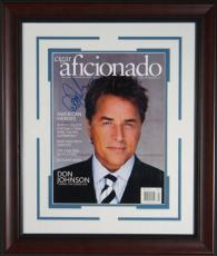 Don Johnson Signed Cigar Aficionado Framed Display