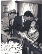 "DON KNOTTS as BARNEY FIFE and SUE ANE LANGDON as KATE TASSEL on ""THE ANDY GRIFFITH SHOW"" Signed 8x10 B/W Photo"