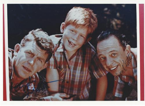 """DON KNOTTS as DEPUTY BARNEY FIFE in TV Series """"THE ANDY GRIFFITH SHOW"""" (ANDY was Signed by Secretary) Signed 10x7.25 Color Photo"""