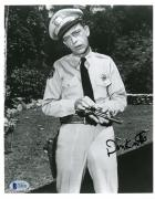 "Don Knotts Autographed 8"" x 10"" The Andy Griffith Show Holding Gun Photograph -BAS COA"