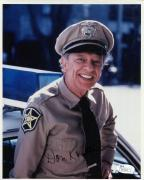 DON KNOTTS HAND SIGNED 8x10 COLOR PHOTO      GREAT POSE AS BARNEY FIFE     JSA