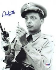 DON KNOTTS SIGNED AUTOGRAPHED 8x10 PHOTO BARNEY FIFE ANDY GRIFFITH SHOW PSA/DNA