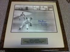 Don Larsen Framed 11x14 Baseball Photo Perfect Game PSA Certified