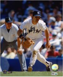 "Don Mattingly New York Yankees Fielding Autographed 8"" x 10"" Fielding Photograph"