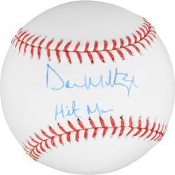 Don Mattingly New York Yankees Autographed Baseball with Hitman Inscription