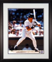 "Don Mattingly New York Yankees Framed Autographed 16"" x 20"" Photograph with Donnie Baseball Inscription"