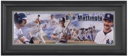 Don Mattingly New York Yankees Framed Unsigned Panoramic Photograph with Suede Matte