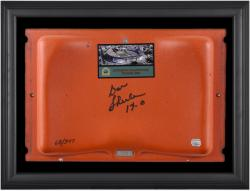 Don Shula Miami Dolphins Autographed Orange Bowl Stadium Seat in Black Framed Shadowbox - Mounted Memories