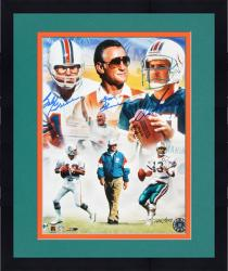 "Framed Don Shula, Bob Griese, & Dan Marino Autographed 11"" x 14"" Photograph-Limited Edition of 513"