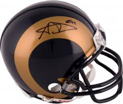 Aaron Donald St. Louis Rams 2014 NFL Draft Autographed Riddell Mini Helmet  - Mounted Memories