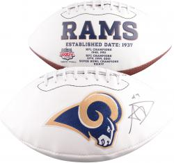 Aaron Donald St. Louis Rams 2014 NFL Draft Autographed White Panel Football