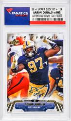 "DONALD, AARON AUTO ""GO PITT"" (2014 UPPER DECK RC # 129) CARD - Mounted Memories"