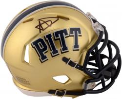 Aaron Donald Pittsburgh Panthers Autographed Riddell Mini Helmet - Mounted Memories
