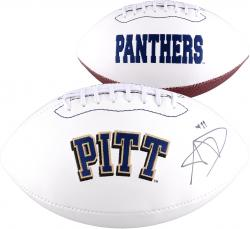 Aaron Donald Autographed Pitt Panthers Logo Ball