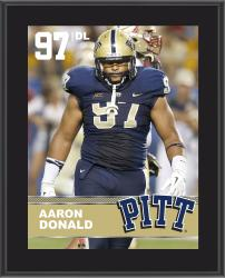 """Aaron Donald Pittsburgh Panthers Sublimated 10.5"""" x 13"""" Plaque"""