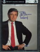 "Donald J. Trump ""Best Wishes"" Signed 8.5x11 Photo Autographed BAS Slab"