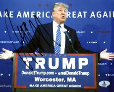 Donald J. Trump Signed 8X10 Photo Autographed BAS #A00344