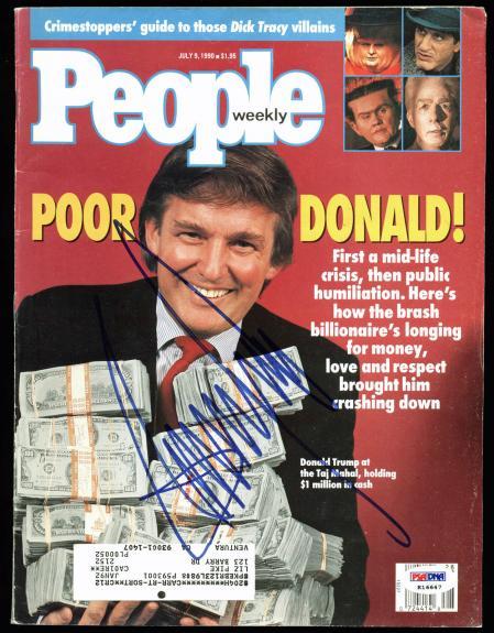 Donald J. Trump Signed July 9, 1990 People Magazine PSA/DNA #K16647