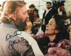 DONALD SUTHERLAND and DIANE LAND - GREAT SHOT! Signed 10x8 Color Photo