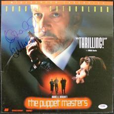 Donald Sutherland Puppet Masters Signed Laserdisc Cover PSA #J00684
