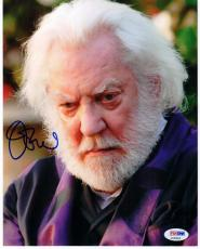 Donald Sutherland signed 8x10 photo Hunger Games Pres Coriolanus Snow PSA/DNA