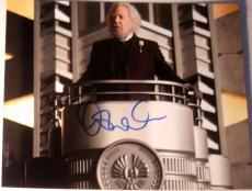 "Donald Sutherland Signed Autograph Classic ""hunger Games"" President Snow Photo"