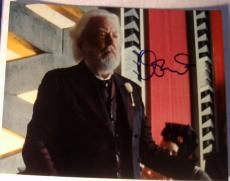 "Donald Sutherland Signed Autograph ""hunger Games"" President Snow 8x10 Photo Coa"