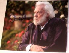 "Donald Sutherland Signed Autograph New ""hunger Games"" President Snow 8x10 Photo"