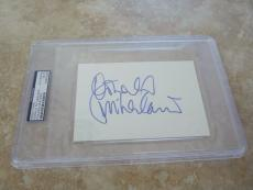 DONALD SUTHERLAND Signed Autographed 4X6 Index Card PSA Certified & Slabbed